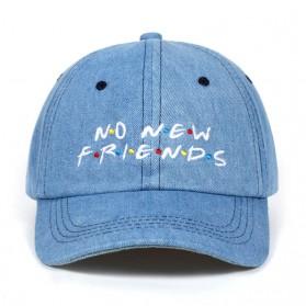 Topi Baseball No New Friend Hip Hop Sport Fashion Hat - Q455040 - Black - 5