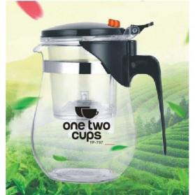 OneTwoCups Teko Pitcher Teh Chinese Teapot Maker 500ml - TP-757 - Transparent - 2