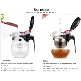 OneTwoCups Teko Pitcher Teh Chinese Teapot Maker 500ml - TP-757 - Transparent - 8