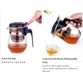 OneTwoCups Teko Pitcher Teh Chinese Teapot Maker 500ml - TP-757 - Transparent - 11