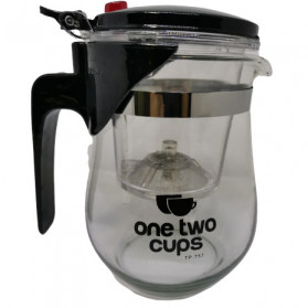 OneTwoCups Teko Pitcher Teh Chinese Teapot Maker 500ml - TP-757 - Transparent - 14