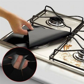 Alas Cover Kompor Anti Minyak Reusable Stovetop Burner Protector 27x27cm 4 PCS - CM-KW0288 - Black