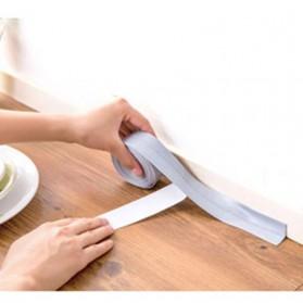 Mildew Sealing Strip Sticker PVC Dapur Kamar Mandi 3.2m 2.2cm - White - 2