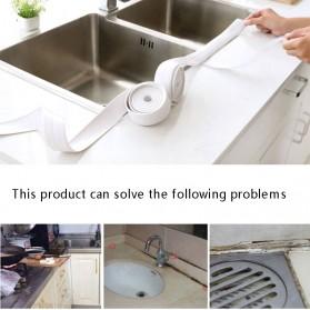 Mildew Sealing Strip Sticker PVC Dapur Kamar Mandi 3.2m 2.2cm - White - 3