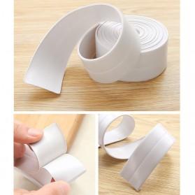 Mildew Sealing Strip Sticker PVC Dapur Kamar Mandi 3.2m 2.2cm - White - 4