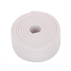 Mildew Sealing Strip Sticker PVC Dapur Kamar Mandi 3.2m 2.2cm - White - 5