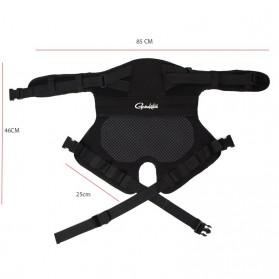 Gamakatsu Ikat Pinggang Bantal Alas Duduk Memancing Anti Slip Cushion - JT229 - Black - 10