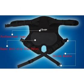 Gamakatsu Ikat Pinggang Bantal Alas Duduk Memancing Anti Slip Cushion - JT229 - Black - 7