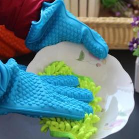 Sarung Tangan Silikon Anti Panas Heat Resistance Kitchen Glove 1 Pcs - FGS - Orange - 5