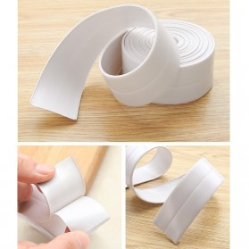 Mildew Sealing Strip Sticker PVC Dapur Kamar Mandi 3.2m 3.8cm - White - 4