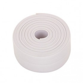 Mildew Sealing Strip Sticker PVC Dapur Kamar Mandi 3.2m 3.8cm - White - 5