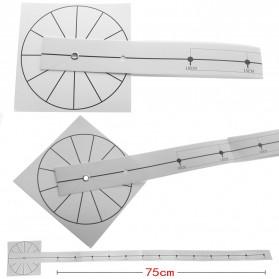 Jam Dinding Besar DIY Giant Wall Clock Quartz Creative Design 120cm Model French Bulldog - DIY-211 - Black - 3