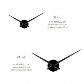 Jam Dinding Besar DIY Giant Wall Clock Quartz Creative Design 120cm Model French Bulldog - DIY-211 - Black - 5