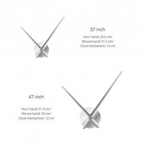 Jam Dinding Besar DIY Giant Wall Clock Quartz Creative Design 120cm Model Dental Doctor - DIY-212 - Silver - 5