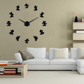Jam Dinding Besar DIY Giant Wall Clock Quartz Creative Design 120cm Model Mickey Mouse - DIY-215 - Black - 2