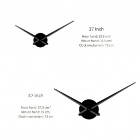 Jam Dinding Besar DIY Giant Wall Clock Quartz Creative Design 120cm Model Ballet Dancer - DIY-218 - Black - 5