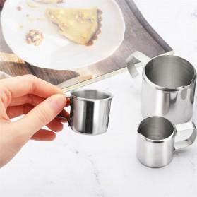 DROHOEY Gelas Pitcher Kopi Espresso Latte Art Stainless Steel 3 Oz - S06HG - Silver - 6
