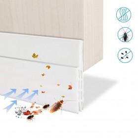 Handdiy Lis Penghalang Debu Serangga Bawah Pintu Door Bottom Seal 1 Meter - FF53 - White - 2