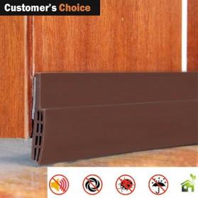 Handdiy Lis Penghalang Debu Serangga Bawah Pintu Door Bottom Seal 1 Meter - FF53 - White - 3