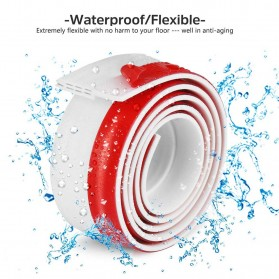 Handdiy Lis Penghalang Debu Serangga Bawah Pintu Door Bottom Seal 1 Meter - FF53 - White - 4