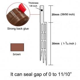 Handdiy Lis Penghalang Debu Serangga Bawah Pintu Door Bottom Seal 1 Meter - FF53 - White - 6