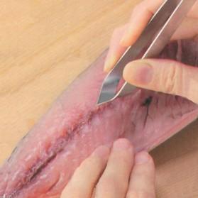 Feiqiong Pinset Jepitan Pencabut Tulang Ikan Tweezer Fish Bone - JJ9277-01 - Silver