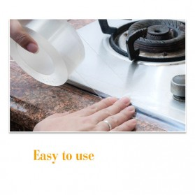 Alloet Lakban Waterproof Dapur Kitchen Sink Seal Tape 0.8x20mm 3 Meter - YK-468 - Transparent - 9