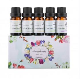 Firstsun Set Pure Essential Fragrance Oils Minyak Aromatherapy Diffusers 10ml 5PCS - RH-05 - 1