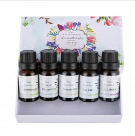Firstsun Set Pure Essential Fragrance Oils Minyak Aromatherapy Diffusers 10ml 5PCS - RH-05 - 4