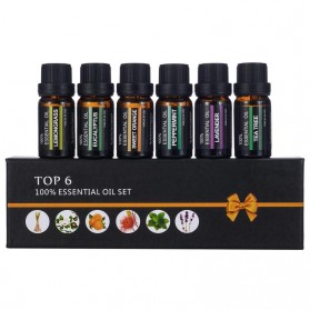 Firstsun Set Pure Essential Fragrance Oils Minyak Aromatherapy Diffusers 10ml 6PCS - RH-06