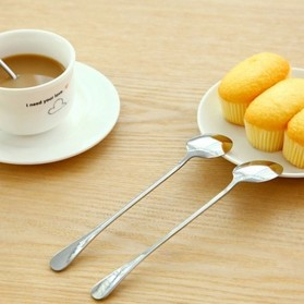 KANNERT Sendok Teh Gagang Panjang Long Handled Tea Spoon Stainless Steel - RR-11 - Silver - 2