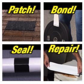 Swift Lakban Anti Bocor Waterproof Super Strong Leak Stop Repair Tape 18x152cm - FL33331 - Black - 6