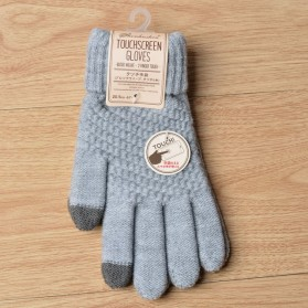 NoEnName Sarung Tangan Wanita Touch Screen Winter Warm Wool - ST003 - Gray