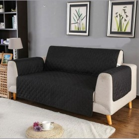 Prodigen Cover Sarung Sofa Anti Slip Multifungsi Model 2 Seat - MZ-005 - Black