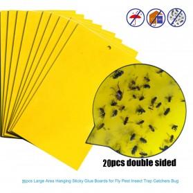 ISHOWTIENDA Lem Perangkap Nyamuk Lalat Glue Sticker Sticky Board Catching Aphids Insects 60PCS - HG059 - Yellow - 3