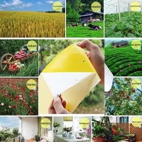 ISHOWTIENDA Lem Perangkap Nyamuk Lalat Glue Sticker Sticky Board Catching Aphids Insects 60PCS - HG059 - Yellow - 6