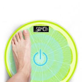 Taffware Digipounds Timbangan Badan Digital Lemon Scale USB Rechargeable Version - SC-14 - Green - 2