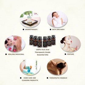 AS Pure Essential Fragrance Oils Aromatherapy Diffusers 10ml 6 PCS - TSLM4 - 7