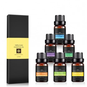 Eighteen Pure Essential Fragrance Oils Minyak Aromatherapy Diffusers 10ml 6 PCS - TSLM3