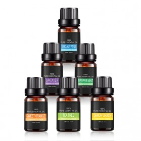 Eighteen Pure Essential Fragrance Oils Minyak Aromatherapy Diffusers 10ml 6 PCS - TSLM3 - 3
