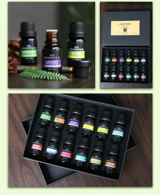 Eighteen Pure Essential Fragrance Oils Minyak Aromatherapy Diffusers 10ml 6 PCS - TSLM3 - 7