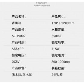 Taffware Aromatherapy Air Humidifier Wood 350ml with LED RGB - AJ-19002 - Yellowish Brown - 10