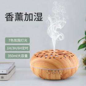 Taffware Aromatherapy Air Humidifier Wood 350ml with LED RGB - AJ-19002 - Yellowish Brown - 2
