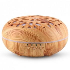 Taffware Aromatherapy Air Humidifier Wood 350ml with LED RGB - AJ-19002 - Yellowish Brown - 3
