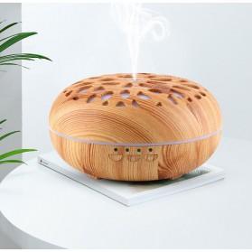 Taffware Aromatherapy Air Humidifier Wood 350ml with LED RGB - AJ-19002 - Yellowish Brown - 4