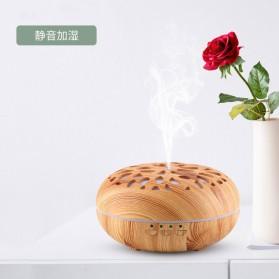 Taffware Aromatherapy Air Humidifier Wood 350ml with LED RGB - AJ-19002 - Yellowish Brown - 5
