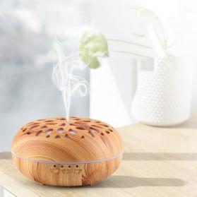 Taffware Aromatherapy Air Humidifier Wood 350ml with LED RGB - AJ-19002 - Yellowish Brown - 6