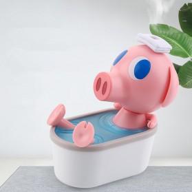 Cikuso Aromatherapy Air Humidifier Cute Pig Bath Design 250ml - AJ-207 - Pink - 4