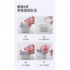 Cikuso Aromatherapy Air Humidifier Cute Pig Bath Design 250ml - AJ-207 - Pink - 5