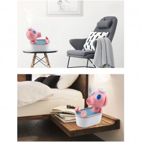 Cikuso Aromatherapy Air Humidifier Cute Pig Bath Design 250ml - AJ-207 - Pink - 8